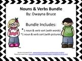 Nouns & Verbs Cut & Paste Activity