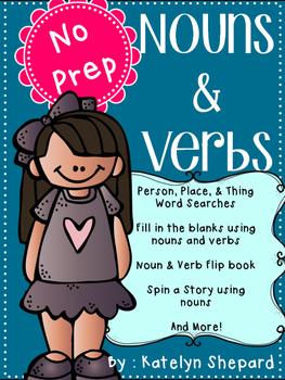 Nouns & Verbs {No Prep} Activities