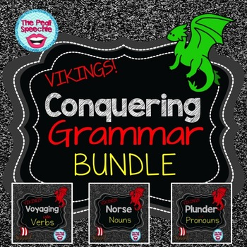 Nouns, Verbs, Pronouns: Grammar Bundle