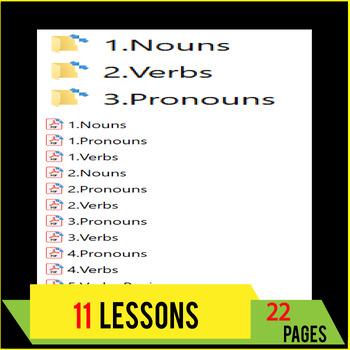 Nouns | Verbs | Pronouns | Grammar Lessons & Practice | Review | Gr 5 - 6 | ELA