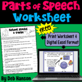 Nouns & Verbs Worksheet (Multiple Meaning Words)   PDF and Digital  
