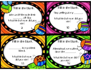 Nouns, Verbs and Adjectives Activities