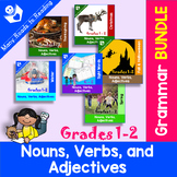 Nouns, Verbs, and Adjectives BUNDLE: Grades 1-2