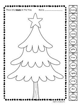 Nouns, Verbs, and Adjectives - Christmas Themed