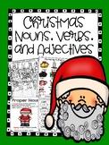 Nouns, Verbs, and Adjectives - Christmas Themed - No Prep!