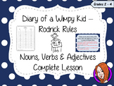 Nouns, Verbs and Adjectives; Complete Lesson  – Diary of a Wimpy Kid