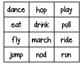 Nouns, Verbs, and Adjectives - Corners Activity
