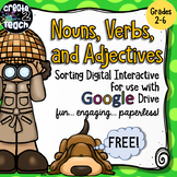 FREEBIE! Nouns, Verbs, and Adjectives Digital Interactive