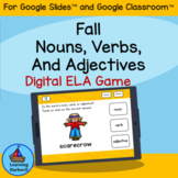 Nouns Verbs and Adjectives Fall Fun  use with Google Classroom™