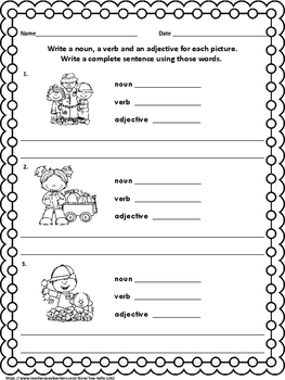 Nouns, Verbs and Adjectives - Fall
