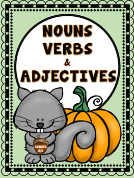 Nouns, Verbs and Adjectives {Fall}