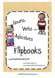Nouns, Verbs and Adjectives Flipbooks