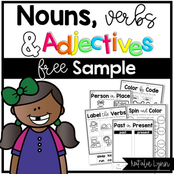 Nouns, Verbs, and Adjectives Freebie