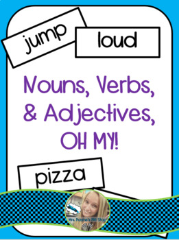 Nouns, Verbs, and Adjectives Game! (Sorting Activity)