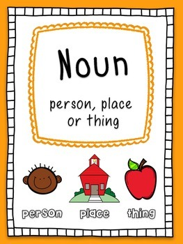 Nouns, Verbs and Adjectives Literacy Center, Activities and Posters