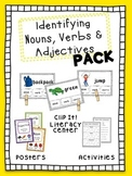 Nouns, Verbs and Adjectives Literacy Center, Activities an