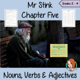 Nouns, Verbs and Adjectives  – Mr Stink