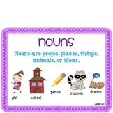 Nouns, Verbs, and Adjectives-Parts of Speech Bundle