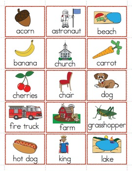 Nouns, Verbs and Adjectives - Picture Sorting