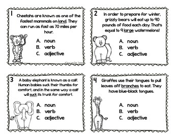Nouns, Verbs, and Adjectives SCOOT
