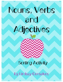 Nouns Verbs and Adjectives Sort