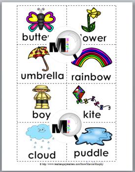 Nouns, Verbs & Adjectives Sort - Spring