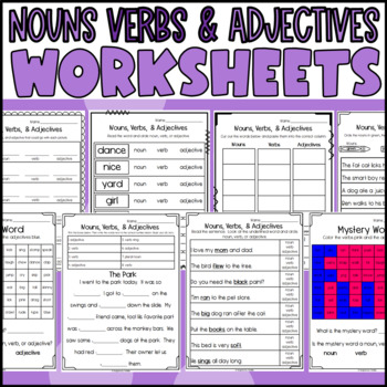 Nouns Verbs Adjectives Sort Worksheets Teaching Resources Teachers