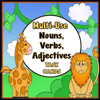 Nouns, Verbs and Adjectives - Task Cards