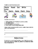 Nouns, Verbs and Adjectives Worksheets