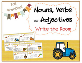Grammar (Nouns, Verbs & Adj.) - Write the Room Activity - Fall