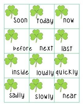 Nouns, Verbs and Adverbs!! Bang Game