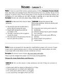 Nouns, Verbs, and Pronouns. 11 lessons. Grade 5 - 6 Part o
