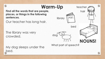 Nouns: What Are Nouns? + Independent Work