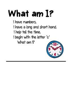 Nouns - What am I?