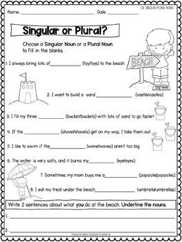First Grade Nouns