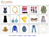 Nouns- Women's Clothing Communication Cards - SmartEdTech