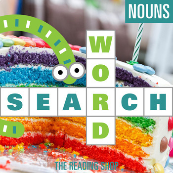 Nouns Word Search - Primary Grades - Wordsearch Puzzle