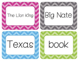 Nouns Word Wall Cards