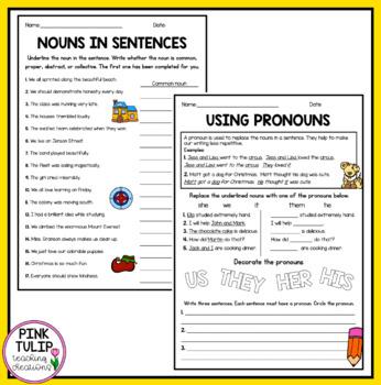 Nouns Bundle - Common, Proper, Abstract, Collective, Pronouns