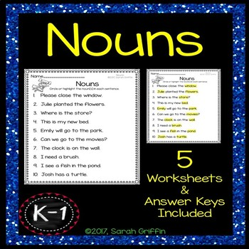 Nouns Practice Worksheets