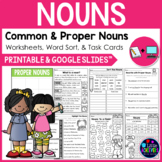 Common and Proper Nouns Worksheets Distance Learning Packet