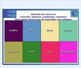 Nouns-abstract concrete compound collective - Exercise Game for Smartboard