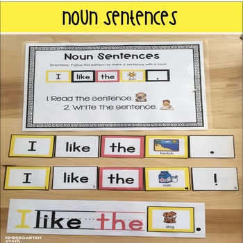 Nouns: activities, mini lessons, printables and sentence practice