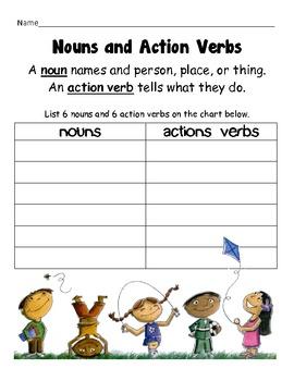 Nouns and Action Verbs