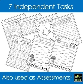 Nouns and Adjectives Worksheets