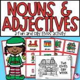 Nouns and Adjectives Christmas Elves Silly Story & Sort Activity