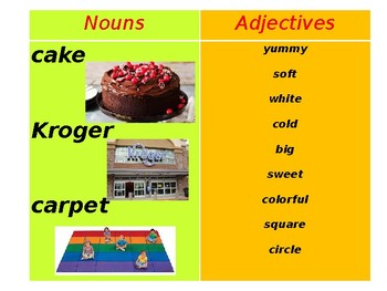 Nouns and Adjectives Match