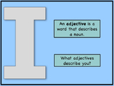 Nouns and Adjectives Review and I am Unique Prewrite