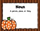 Nouns and Adjectives Sort - Fall/Halloween Theme