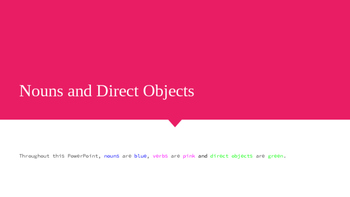 Nouns and Direct Objects PowerPoint